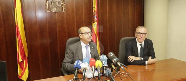El president del Tribunal Superior de Justícia de Catalunya, Jesús María Barrientos, aquest dimarts en roda de premsa a Lleida.