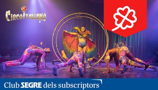 Un dels números acrobàtics del nou espectacle 'Somnis' del Circo Italiano.