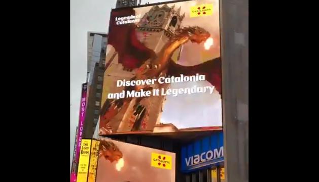 VIRAL. La Seu Vella de Lleida, a Times Square de Nova York