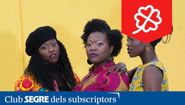 El grup The Sey Sisters, trio vocal català d'origen Ghanès.