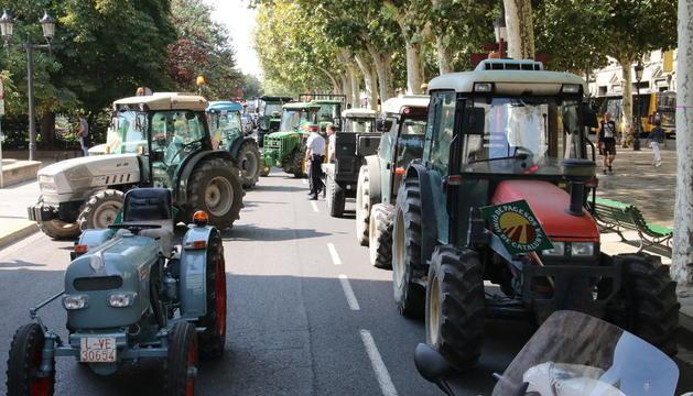 Tractorada l'any passat per protestar contra la venda a pèrdues.