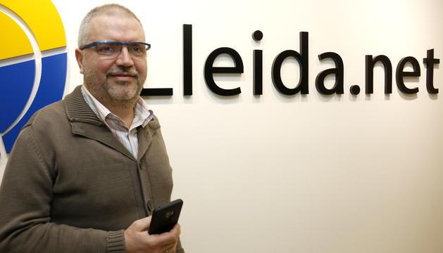 El conseller delegat de Lleida.net, Sisco Sapena.