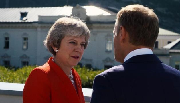 Theresa May, la primera ministra de Reino Unido, desafió hace casi tres años a la Unión Europea.