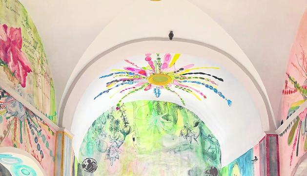 Visitantes en la iglesia de Seurí  a finales del año pasado.