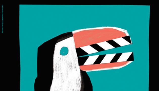 El cartell de la 25a edició de la Mostra de Cinema Llatinoamericà de Catalunya, obra d'Andrea de Castro.