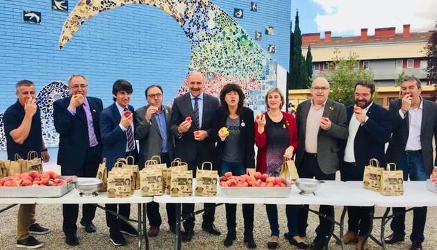 Presentació de la campanya de promoció de fruita a les escoles, dimecres a Barcelona.