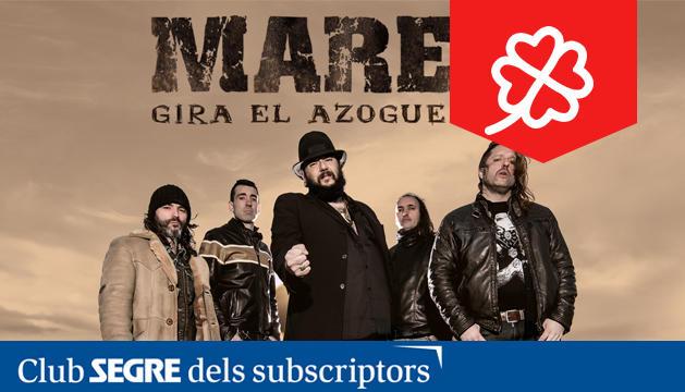 La banda de rock 'Marea' presenta en directe els seus darrers èxits.