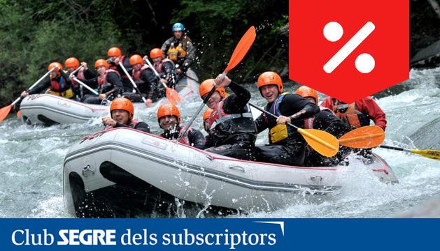 Una de les activitats estrella de l'estiu a Roc Roi és el descens de ràfting, una aventura molt refrescant.