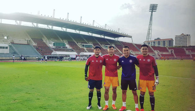 El lleidatà Borja Álvarez, a l'estadi del seu nou club a Hong Kong.