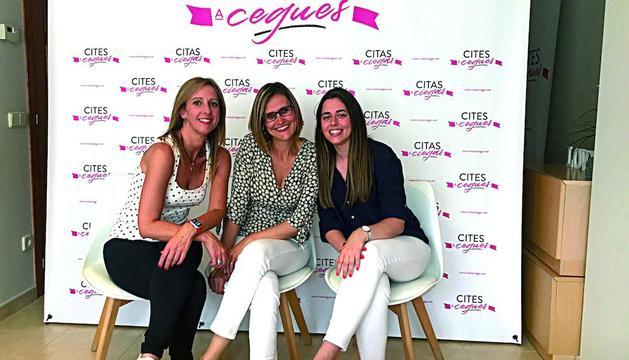 Gemma Besolí, Alba Vallejo i Laura Pubill, les artífexs del web Cites a Cegues de la Seu d'Urgell.