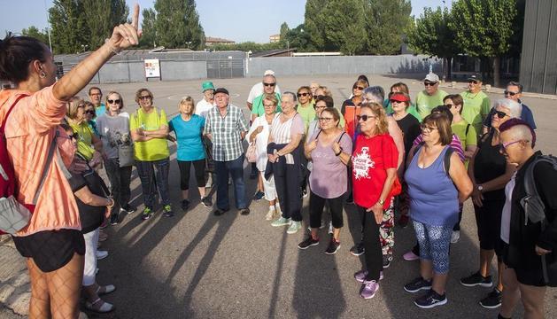 Participants a la caminada celebrada ahir a Tàrrega fins al Talladell.