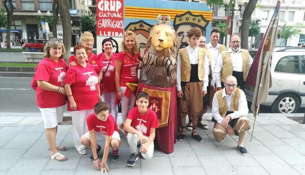 La delegació del Grup Cultural Garrigues a Tarragona.