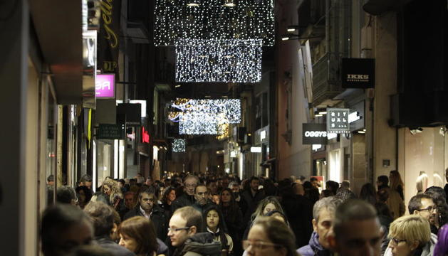 Imatge de l'Eix Comercial de Lleida el Nadal passat.