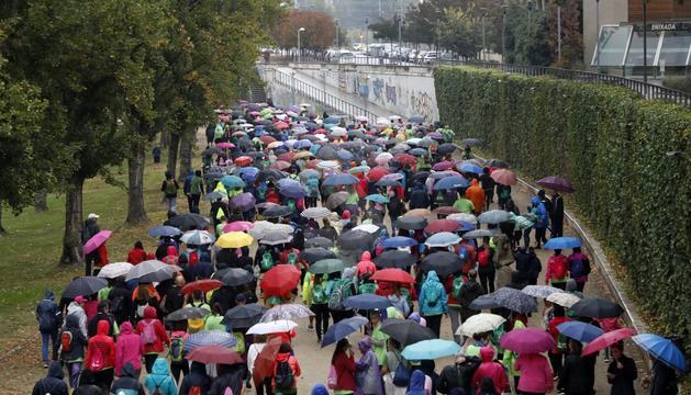 Hi van participar 1.500 persones tot i la pluja.