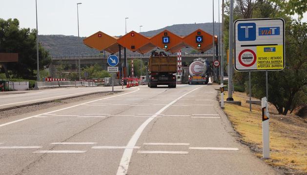 Imatge d'arxiu del peatge de l'autopista AP-2 a les Borges Blanques.