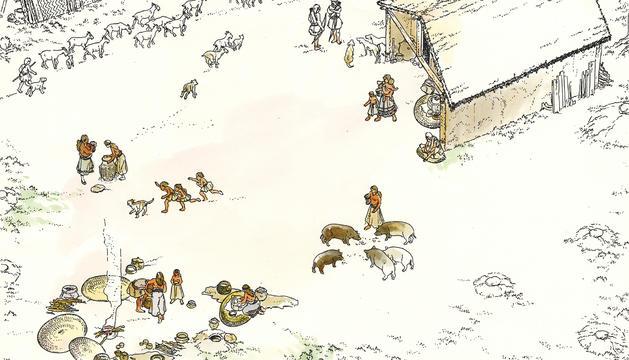 MINFERRI. Es crea als voltantsdel 2.100 aC i es considera un dels primers  assentaments estables de la zona