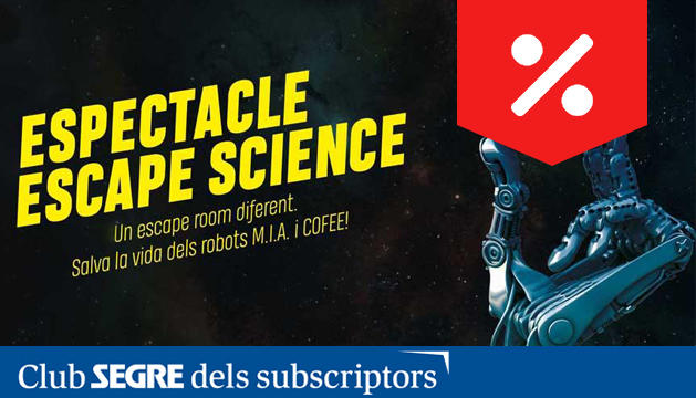 L'espectacle Escape Science ens parla de les claus de l'univers.