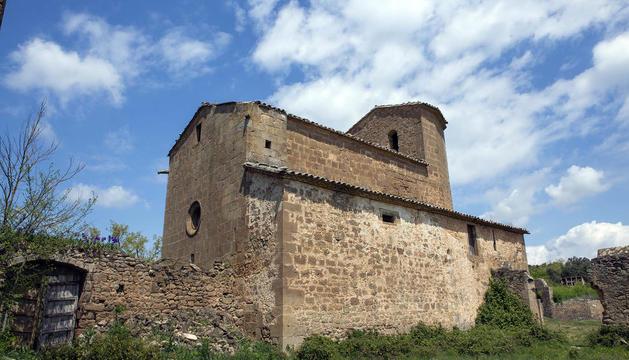 Església gòtica del segle XVI de Sant Martí de Llanera, al municipi de Torà, a la Segarra.