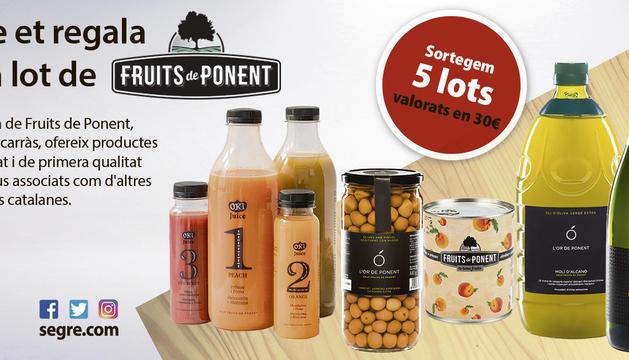 Segre ha sortejat cinc lots de Fruits de Ponent com el de la imatge entre els seus lectors.