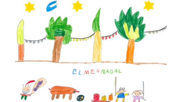 El dibuix d'un dels guanyadors del concurs 'El meu Nadal', el Blai Jounou Sabaté de 6 anys.
