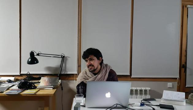 El xilè Francisco Navarrete, al Centre d'Art i Natura.