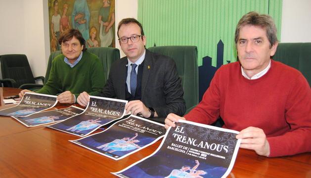 Marc Solsona, Joan Ramon Domingo y Àlex Culleré.