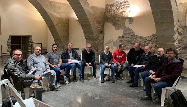 Imatge dels assistents a la reunió que es va fer ahir a Barbens.