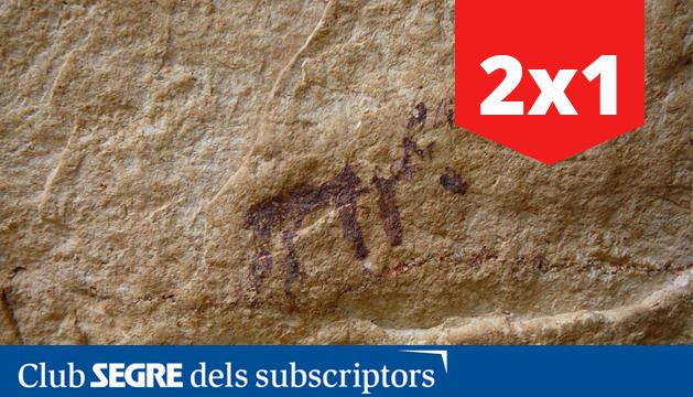 Las pinturas rupestres de la Cueva de los Vilars (Os de Balaguer) tienen más de 4.000 años de historia y han sido declaradas Patrimonio de la Humanidad por la UNESCO.