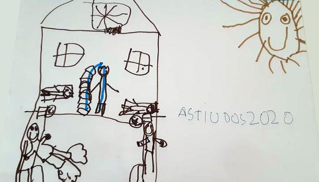 El dibuix de la casa del Pol Lozano (6 anys) ha estat el guanyador de la categoria a del concurs L'estiu en colors.