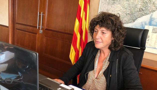La consellera Teresa Jordà, al explicar ayer los diez proyectos de transformación y sostenibilidad