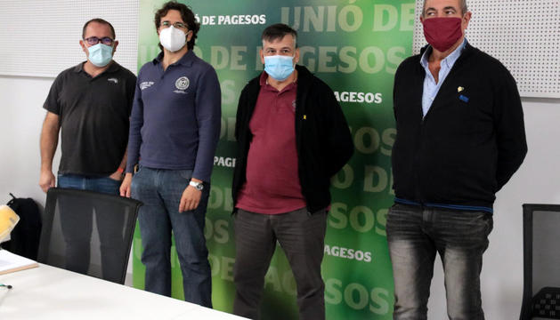 Jordi Armengol, Joan Sellart, Joan Caball y Jaume Pedrós.