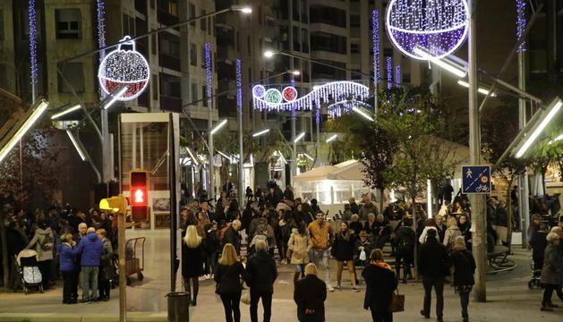 Imatge d'arxiu dels llums de Nadal de la Zona Alta de l'any passat.