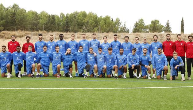 Jugadors i cos tècnic del Lleida que aquesta temporada lluitaran, una vegada més, per guanyar-se una plaça a la Segona divisió A.