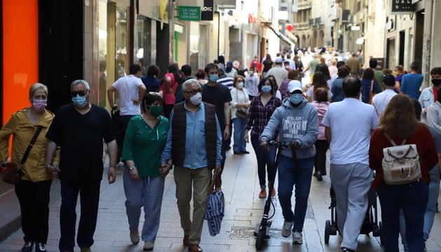 L'Eix Comercial de Lleida va ser de nou molt freqüentat tant al matí com a la tarda.