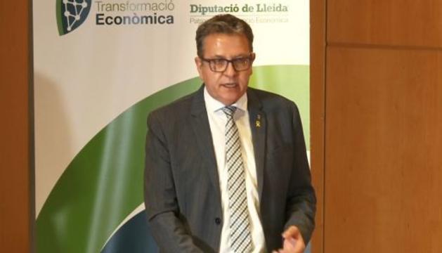 El president de la Diputació de Lleida, Joan Talarn, en un moment de la jornada.