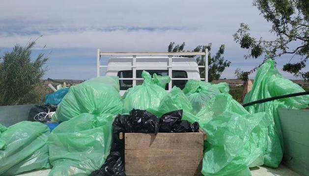 La brigada municipal es va emportar els residus.