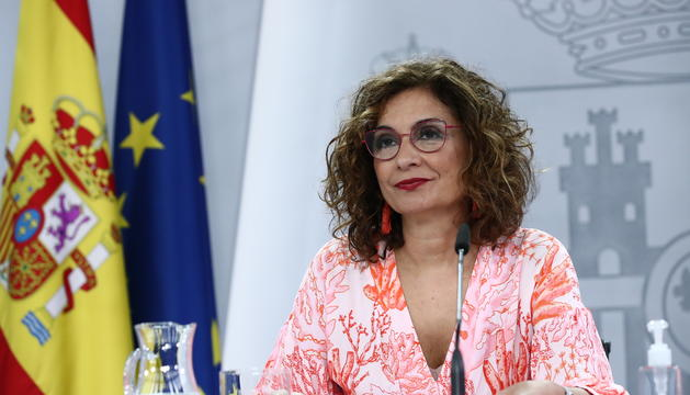 La portaveu de govern espanyol, María Jesús Montero.