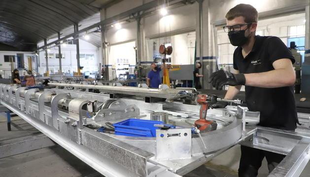 El taller de la firma Iclotet, que tiene 80 trabajadores, en Mollerussa.