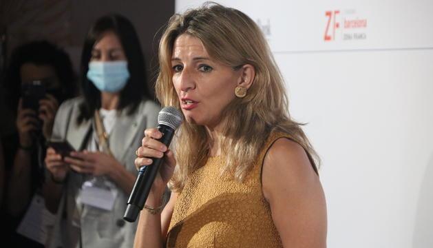 La ministra de Trabajo y Economía Social del gobierno español, Yolanda Díaz.