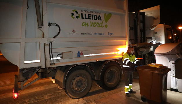 Imatge de la recollida de residus a la ciutat.