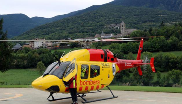 El helicóptero con base en Tírvia, en el Pallars Sobirà.