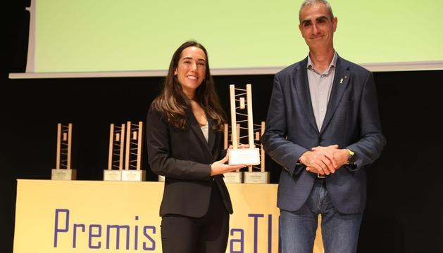 Marta Bertran, el 13 d'octubre passat rebent el premi DonaTIC.