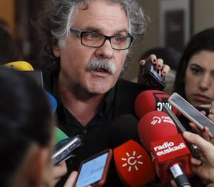 Joan Tardà, ahir a la sortida del debat al Congrés.