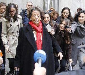 Rita Barberá, atesa després de tenir patir un infart en un hotel de Madrid