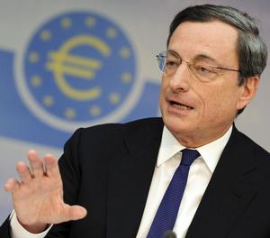 El president del Banc Central Europeu, Mario Draghi, ahir.