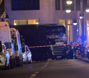 El camió que ha envestit el mercat de Nadal a Berlín.