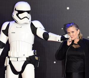 L'actriu Carrie Fisher, de 60 anys.