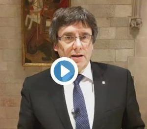 Missatge a Twitter de Carles Puigdemont.