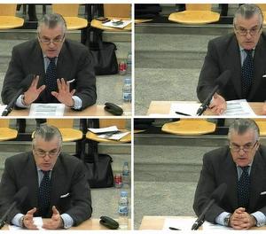 Bárcenas, durant la segona sessió del judici aquest dimarts.