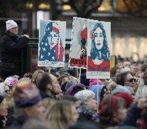 Milers de dones atapeeixen Washington per a una marxa que pot ser històrica